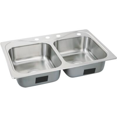 Sterling Southhaven Double Bowl Sink 7 In. Deep Stainless Steel
