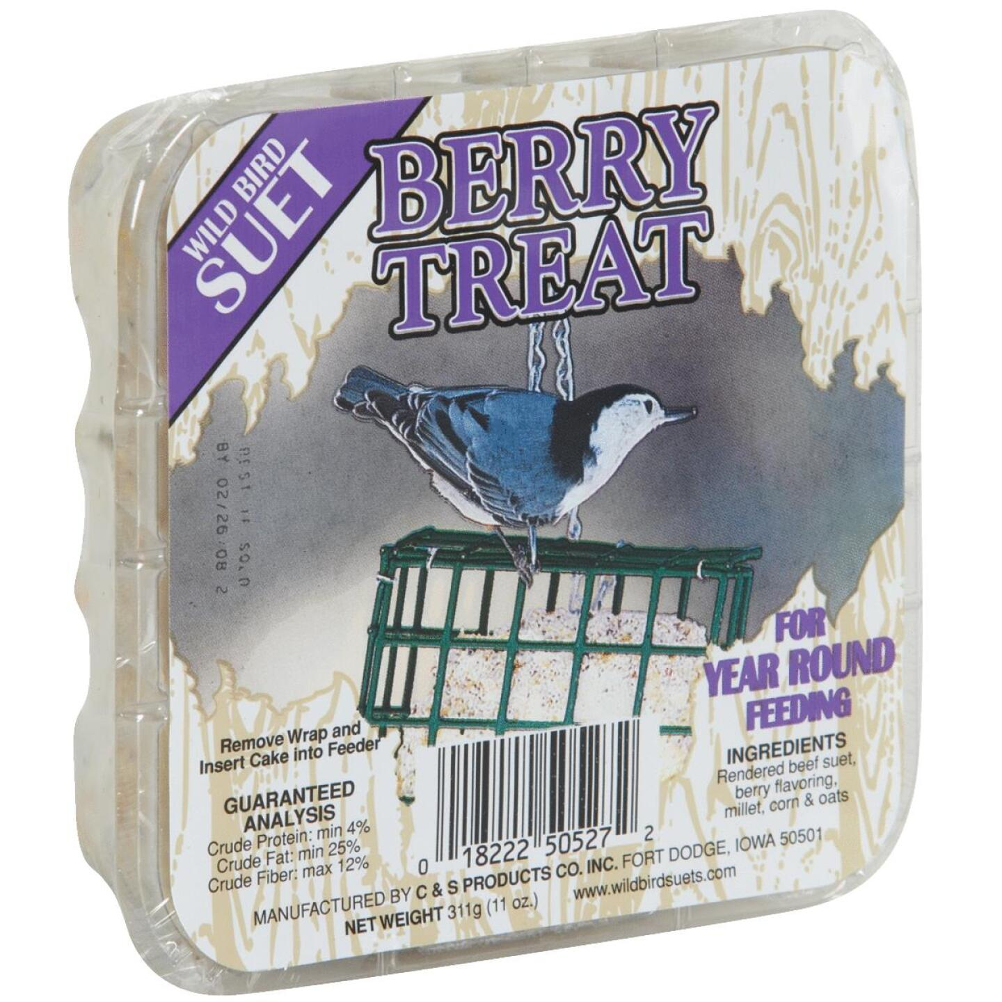 C&S 11 Oz. Berry Treat Wild Bird Suet Image 1